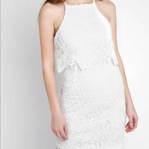 BB Dakota Lace Tiered Bodice Dress